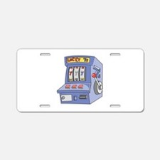 Slot Machine Aluminum License Plate