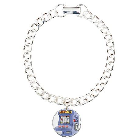 Slot Machine Charm Bracelet, One Charm