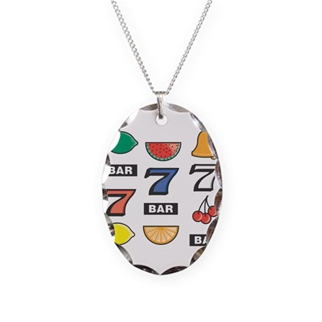 Slots Necklace Oval Charm