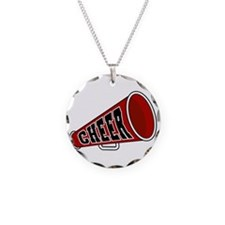 Red Cheer Megaphone Necklace