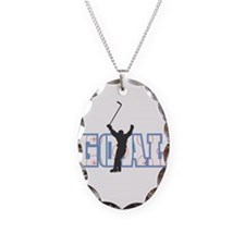 Hockey Goal Design Necklace Oval Charm