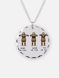 Hear No Evil Monkeys Necklace
