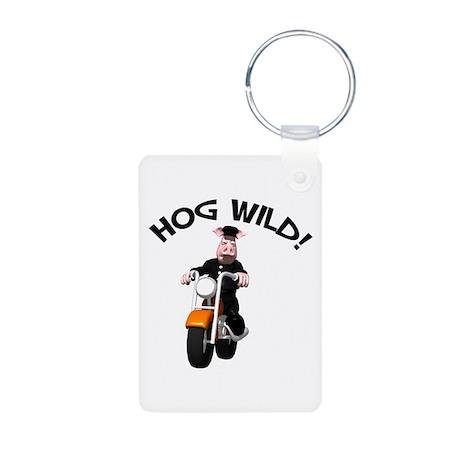 Hog Wild Road Hog Aluminum Photo Keychain
