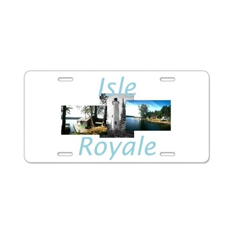 ABH Isle Royale Aluminum License Plate