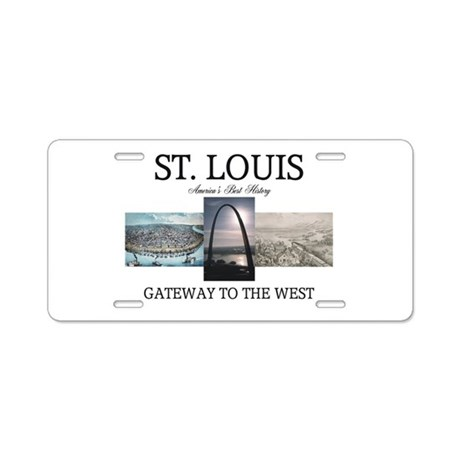 ABH Gateway Arch Aluminum License Plate