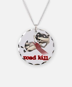 Funny Road Kill Racoon Necklace