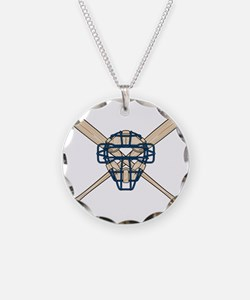 Catcher's Mask and Bats Necklace