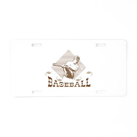 Old-Fashioned Baseball Design Aluminum License Pla