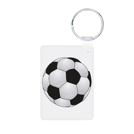 Soccerball II Aluminum Photo Keychain