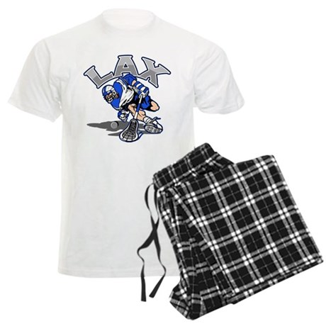 Lacrosse Player In Blue Men's Light Pajamas