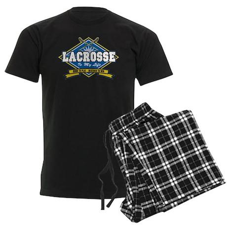 Lacrosse Is My Life Men's Dark Pajamas