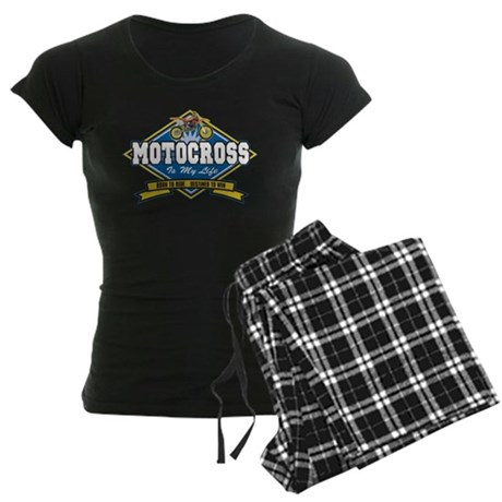 Motocross Is My Life Women's Dark Pajamas