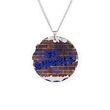 """Graffiti Style """"Fo' Shizzle"""" Necklace"""