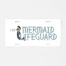 Mermaid Lifeguard Aluminum License Plate