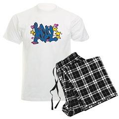 "Graffiti ""Deal"" Design Pajamas"