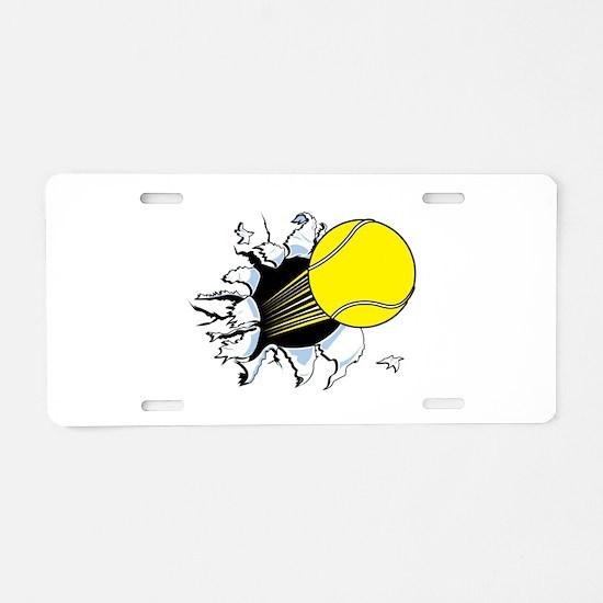 Tennis Ball Ripping Through Aluminum License Plate