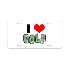 I Heart (Love) Golf Aluminum License Plate