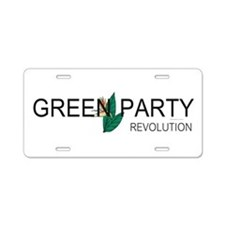 Green Party Aluminum License Plate