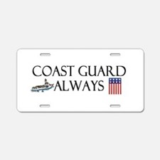 Coast Guard Always Aluminum License Plate