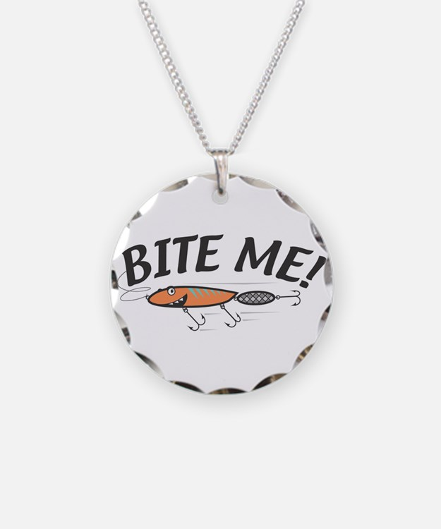 Funny Bite Me Fishing Lure Necklace