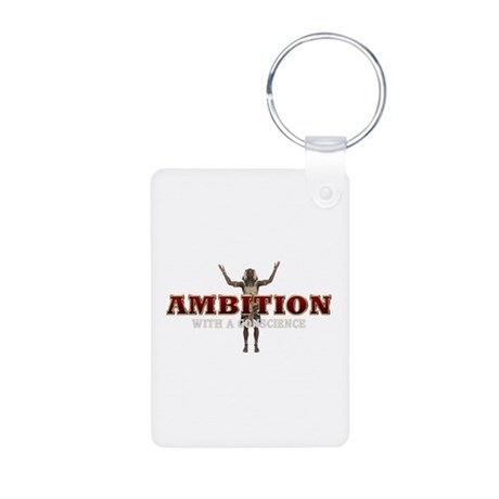 Ambition with a Conscience Aluminum Photo Keychain