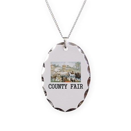 Country Fair Necklace Oval Charm