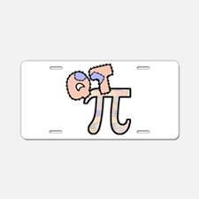 Q T Pi Cutie Pi Aluminum License Plate