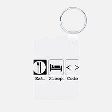 Eat. Sleep. Code. Keychains