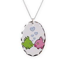 Kissy Love Fish Valentine Necklace
