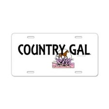 Country Gal Aluminum License Plate