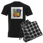 Old School Floppy Disk Men's Dark Pajamas