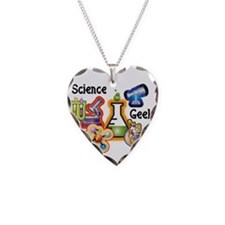 Science Geek Necklace Heart Charm
