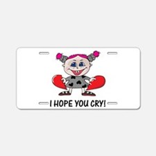 Hope You Cry Goth Heartbreake Aluminum License Pla