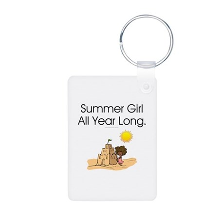 Summer Girl Aluminum Photo Keychain