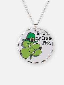 Blow On My Irish Pipe Shamroc Necklace