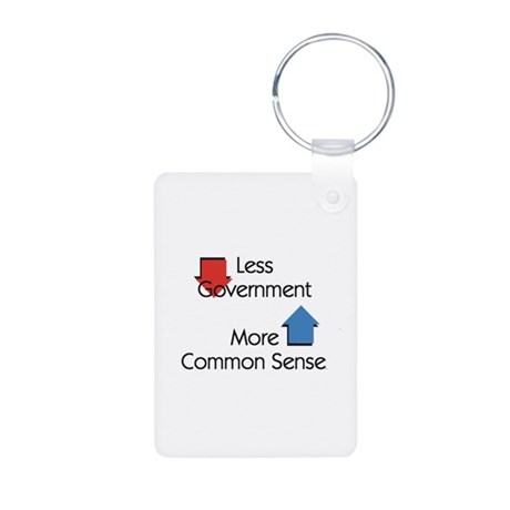 Less Government Aluminum Photo Keychain