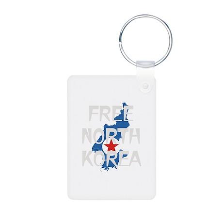 Free North Korea Aluminum Photo Keychain