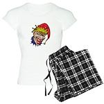 Laughing Evil Grin Clown Women's Light Pajamas