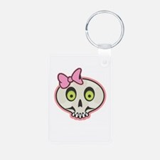 Cute Pink Girl Skull Face Keychains