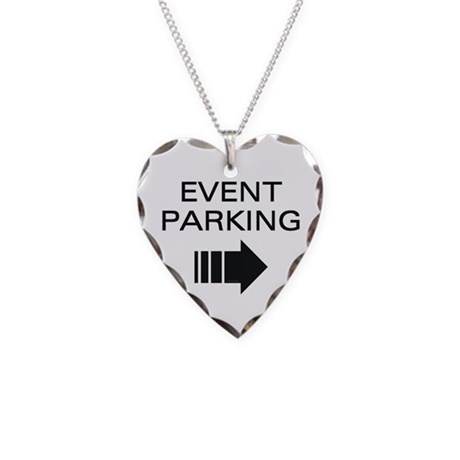 Event Parking Necklace Heart Charm