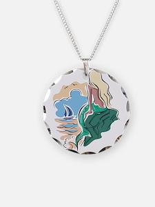 Pretty Mermaid Scene Necklace