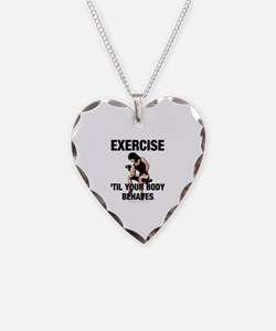 TOP Exercise Slogan Necklace