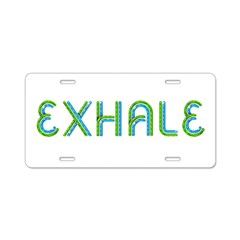 TOP Exhale Aluminum License Plate