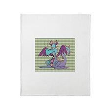 Pouty Dragon Throw Blanket