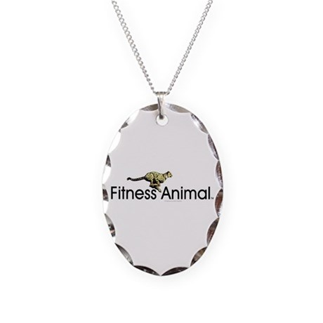 TOP Fitness Animal Necklace Oval Charm