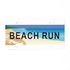 Beach Run Aluminum License Plate