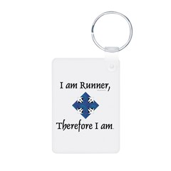 I Am Runner Aluminum Photo Keychain