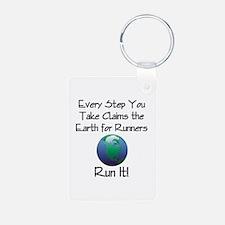 TOP Run Earth Keychains