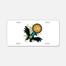 Hawk Motif Aluminum License Plate