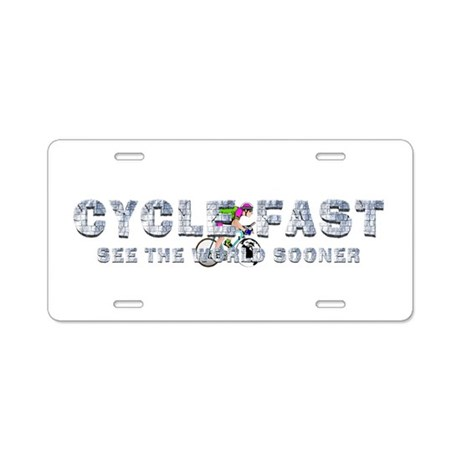 TOP Cycle Fast Aluminum License Plate
